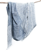 Bloom & Give Malabar Blue Cotton Scarf Scarves Bloom & Give-5244267987007