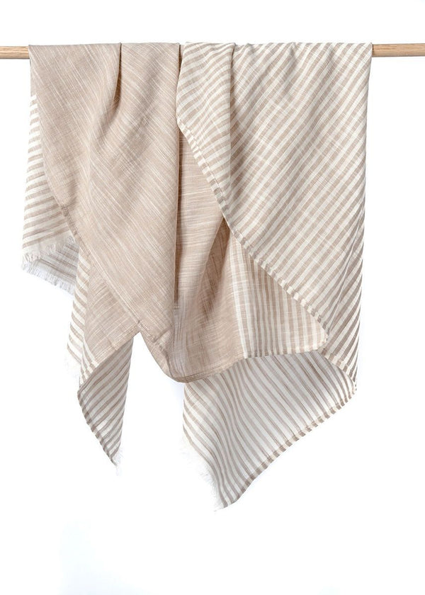 Bloom & Give Malabar Natural Cotton Scarf Scarves Bloom & Give