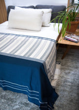 Bloom & Give Neela Throw - Indigo Throws Bloom & Give-5244343844927