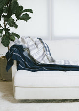 Bloom & Give Neela Throw - Indigo Throws Bloom & Give-5244400042047