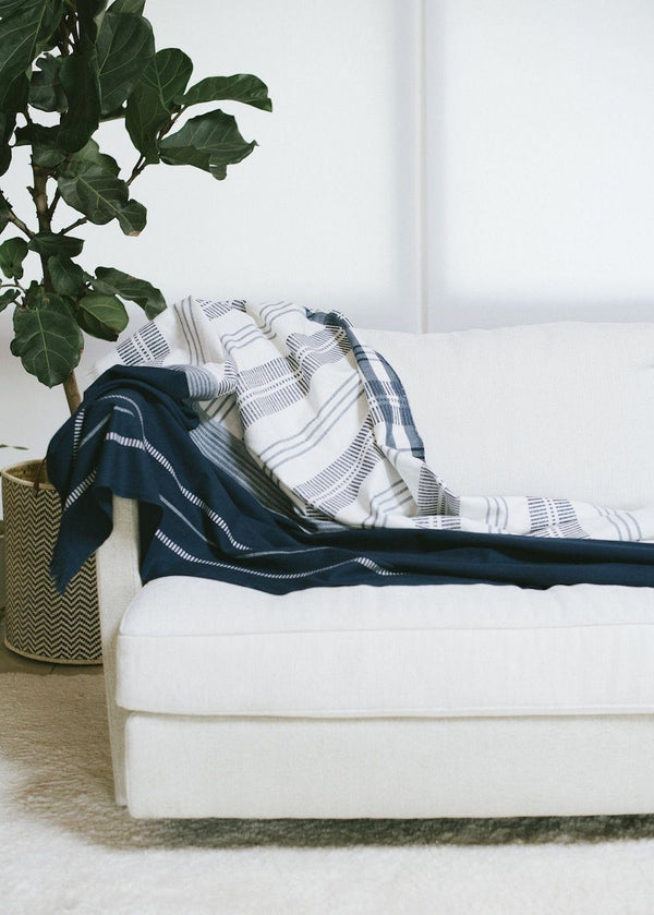 Bloom & Give Neela Throw - Indigo Throws Bloom & Give