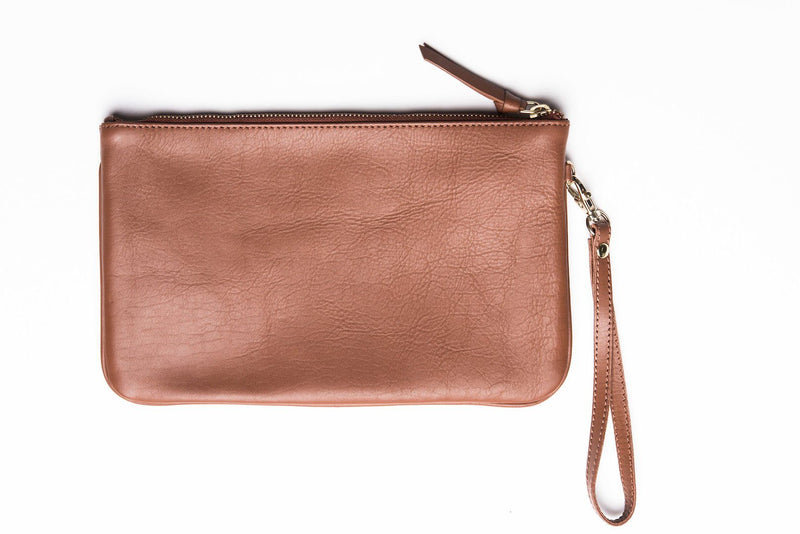 Bloom & Give Terra Wristlet Clutch - Tan B&G Bags Bloom & Give