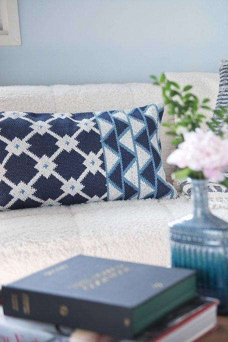 Bloom & Give Tina Indigo Cotton Pillow Pillows Bloom & Give