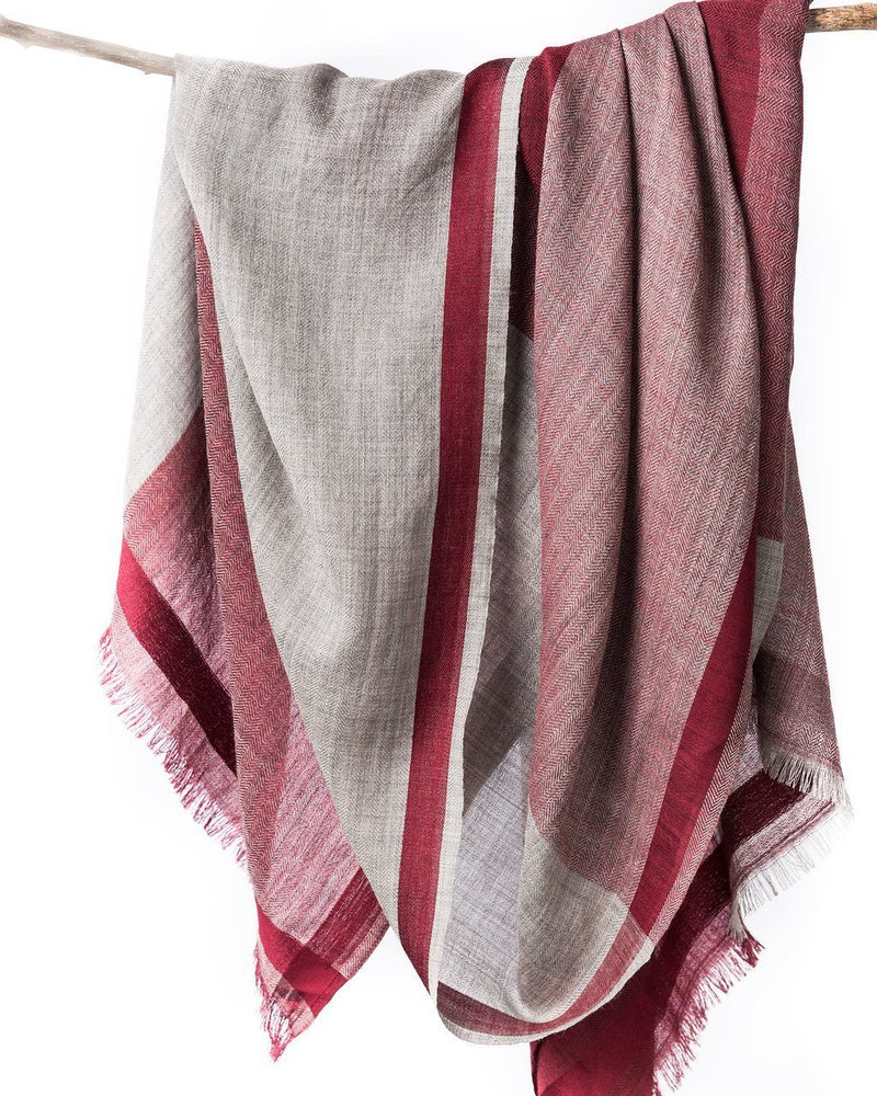 Bloom & Give Tribute Woolen Scarf - Burgundy Scarves Bloom & Give