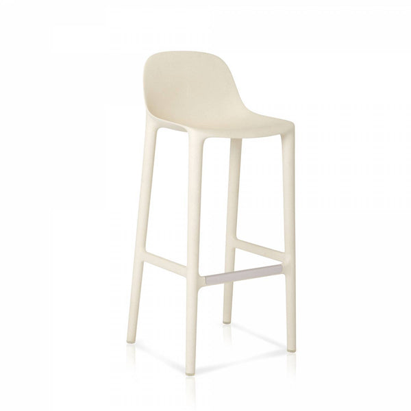 Broom 30 Recycled Barstool Furniture Emeco White