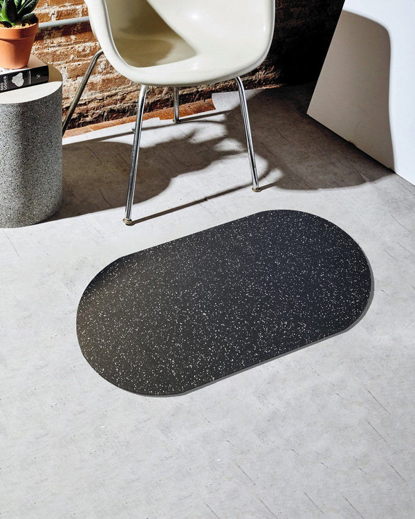 Capsule Floor Mat in Speckled Black Floor Mats Slash Objects