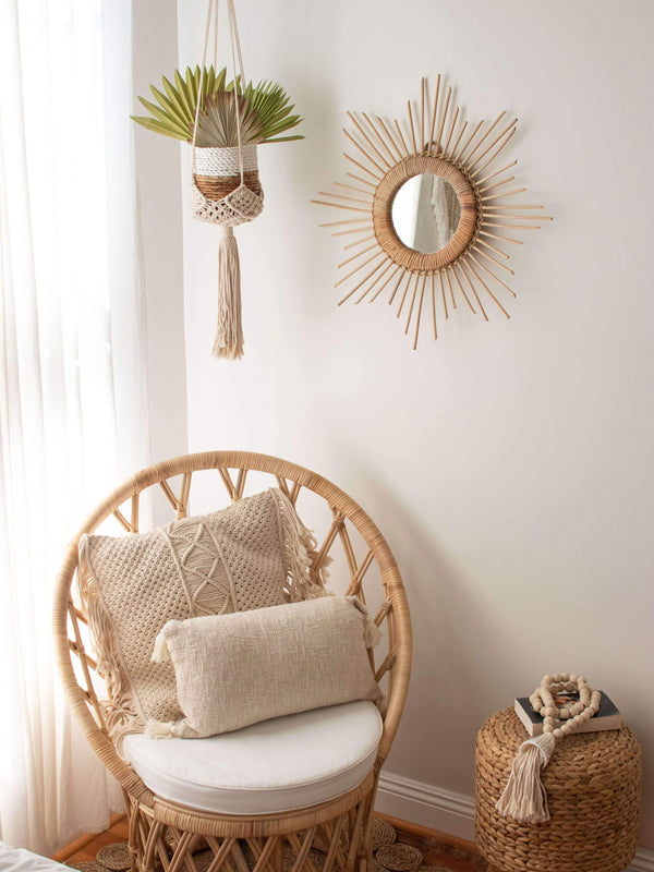 "Ceremonia plant hanger macramé ""darling"" - cream home decor Ceremonia"