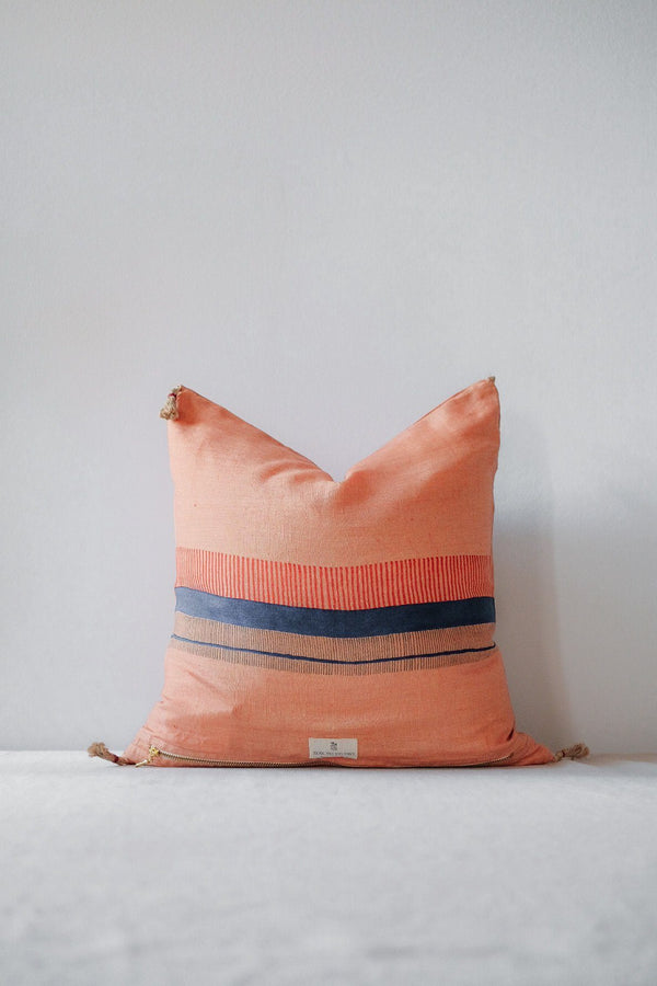 Chhavi Linen Throw Pillow Cover - Orange Kitchen and Dining Soil to Studio