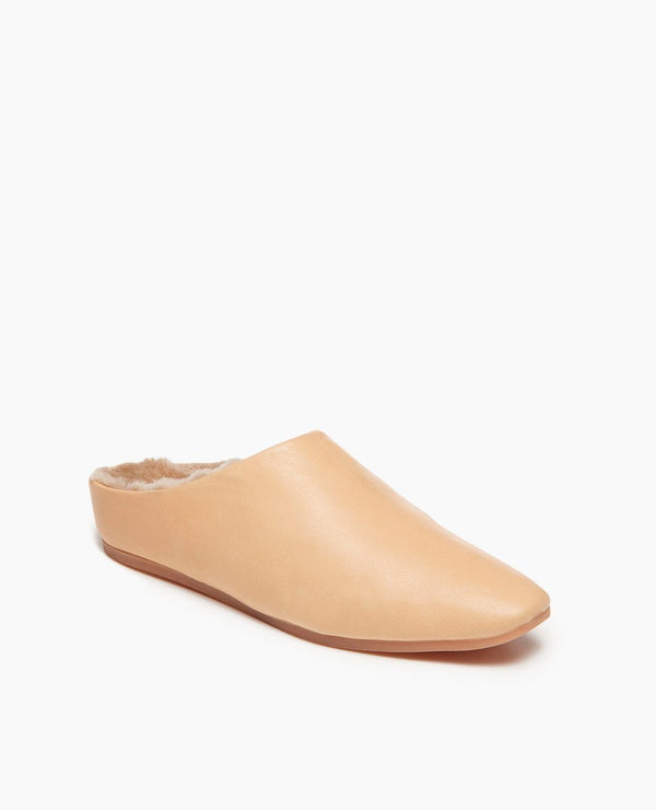 Coclico Gina Shearling Slide Natural - Coclico Flat Coclico