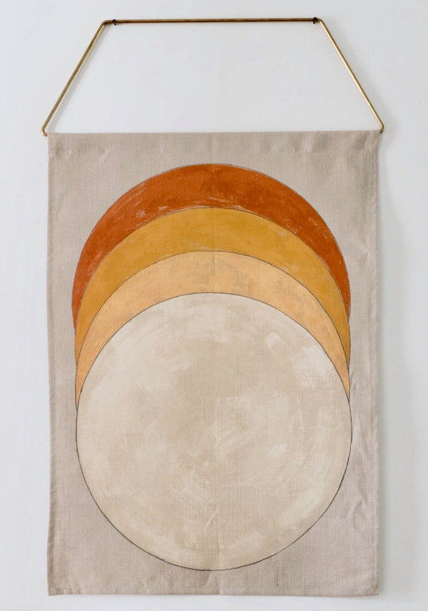 Conejo & Co Eclipse Wall Hanging - Oyster, Gold, Ochre, Rust Home Decor Conejo & Co