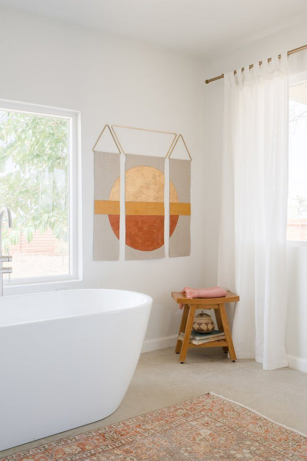 Conejo & Co Mitad Wall Hanging - Gold, Ochre, and Earth Home Decor Conejo & Co