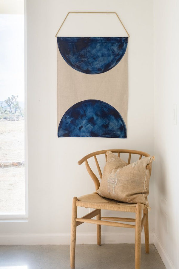 Conejo & Co Mono Wall Hanging - Blue and Beige Home Decor Conejo & Co