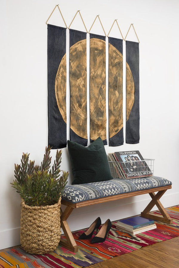 Conejo & Co Oso Wall Hanging - Gold and Charcoal Home Decor Conejo & Co