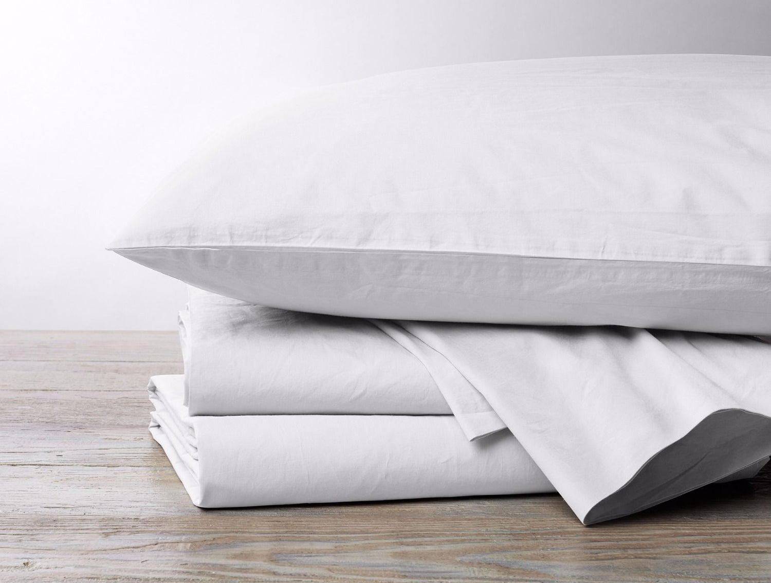 Coyuchi 300 Thread Count Organic Percale Sheet Set - Alpine White Bedding and Bath Coyuchi
