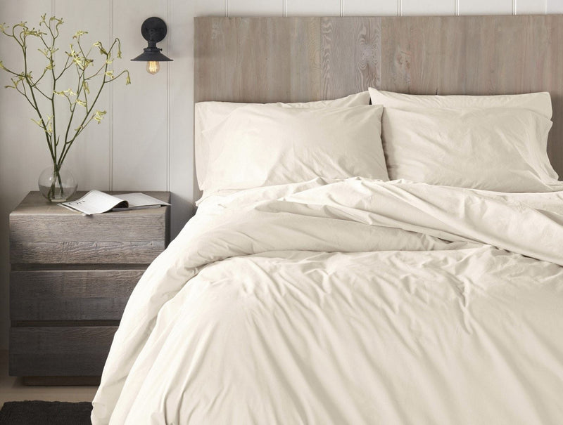 Coyuchi 300 Thread Count Organic Percale Sheet Set - Undyed Bedding and Bath Coyuchi