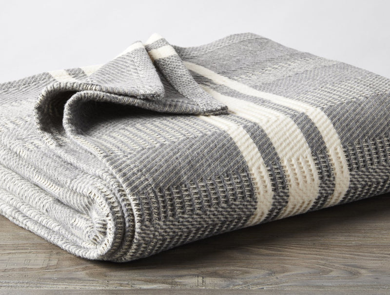 Coyuchi Cirrus Supersoft Organic Cotton Throw Blanket - Storm Home Decor Coyuchi