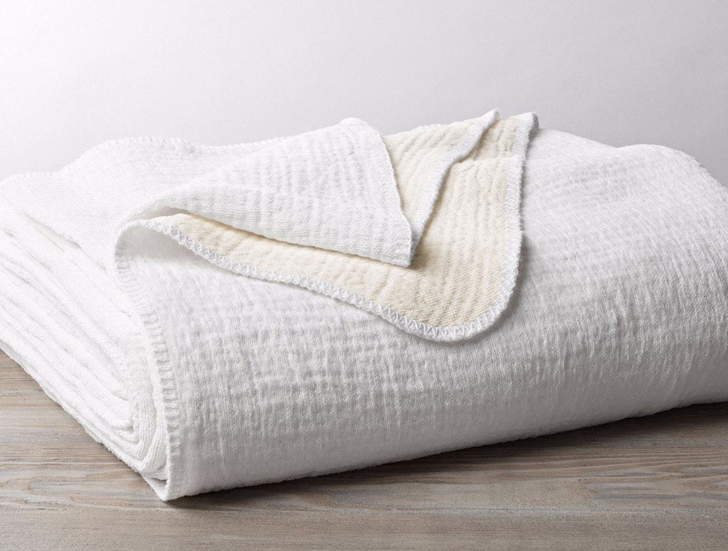 Coyuchi Cotton Organic Baby Blanket - Alpine White Bedding and Bath Coyuchi