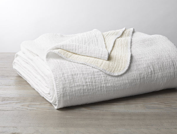 Coyuchi Cozy Cotton Organic Blanket Coyuchi Alpine White King