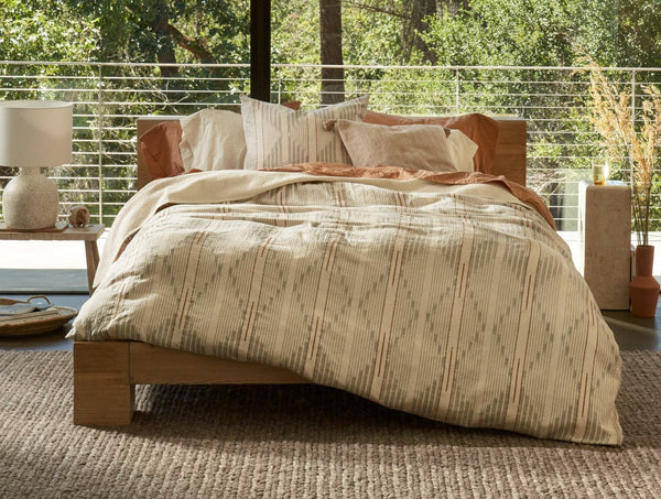 Coyuchi Morelia Organic Duvet Cover and Shams - Harvest Bedding and Bath Coyuchi