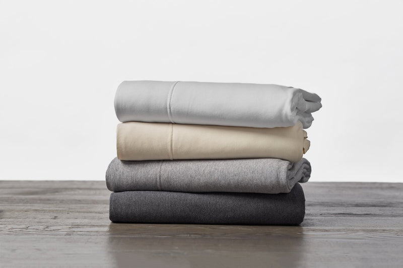 Coyuchi Organic Jersey Envelope Pillowcase - Gray Heather Bedding and Bath Coyuchi