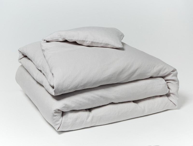 Coyuchi Organic Relaxed Linen Duvet Cover - Fog Bedding and Bath Coyuchi