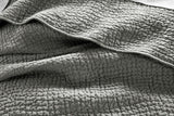 Coyuchi Pebbled Handstitched Organic Euro Sham - Slate Bedding and Bath Coyuchi -15057608343615
