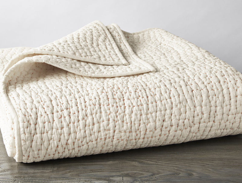 Coyuchi Pebbled Handstitched Organic Quilt - Undyed Bedding and Bath Coyuchi