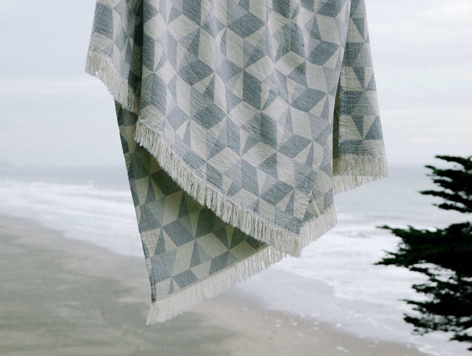 Coyuchi Pismo Organic Blanket - Lake Home Decor Coyuchi