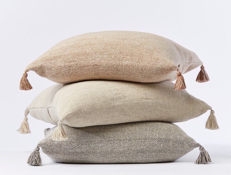 Coyuchi Presidio Organic Pillow Cover Coyuchi Natural Herringbone