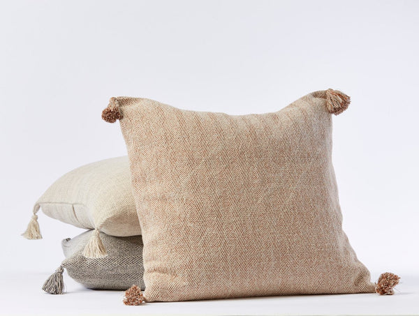 Coyuchi Presidio Organic Pillow Cover Coyuchi Rust Herringbone
