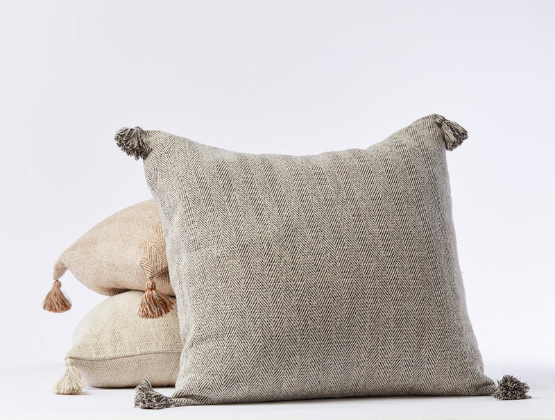 Coyuchi Presidio Organic Pillow Cover Coyuchi Shadow Herringbone