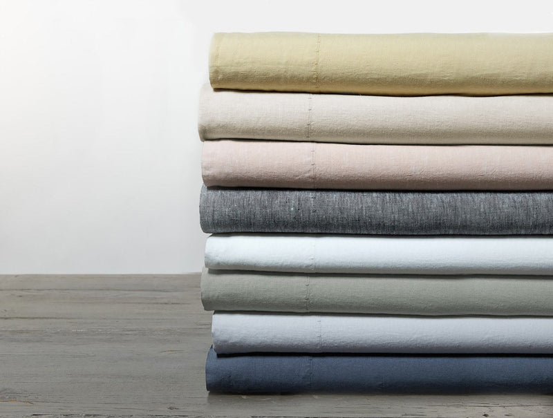 Coyuchi Relaxed Linen Pillowcases - Natural Chambray Bedding and Bath Coyuchi