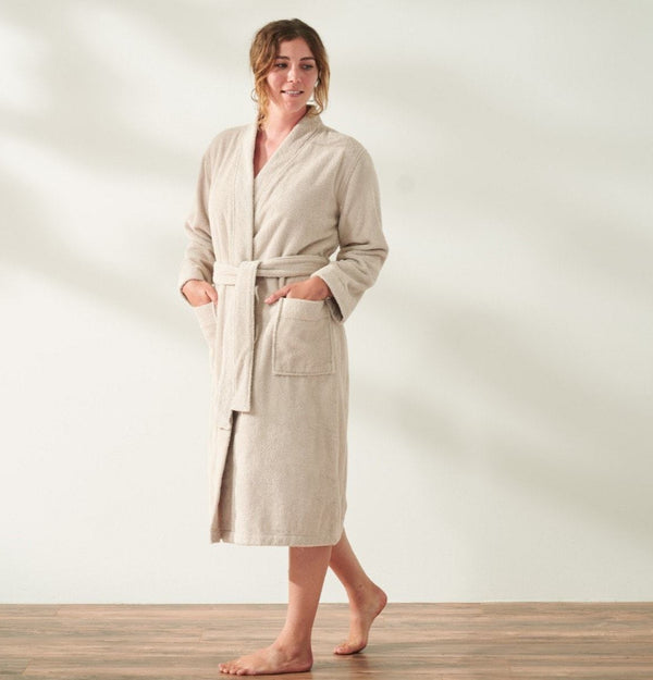 Coyuchi Unisex Air Weight Organic Robe - Dune Bedding and Bath Coyuchi
