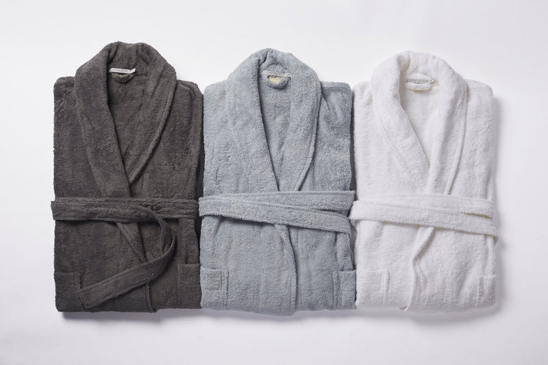 Coyuchi Unisex Cloud Loom Organic Robe Made Trade Large/X Large Slate