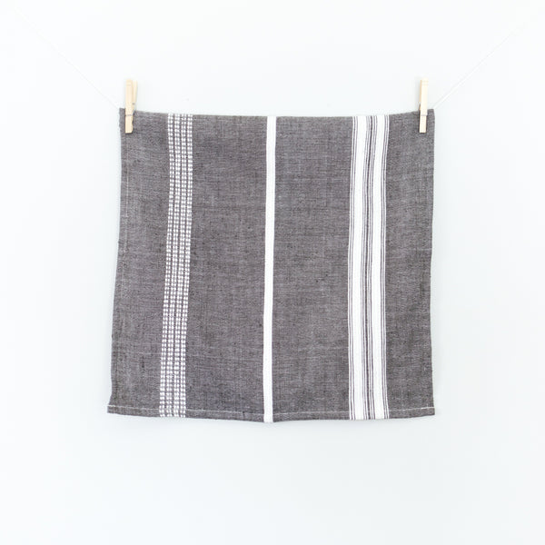 Creative Women Aden Cotton Napkin - Gray with Natural Creative Women
