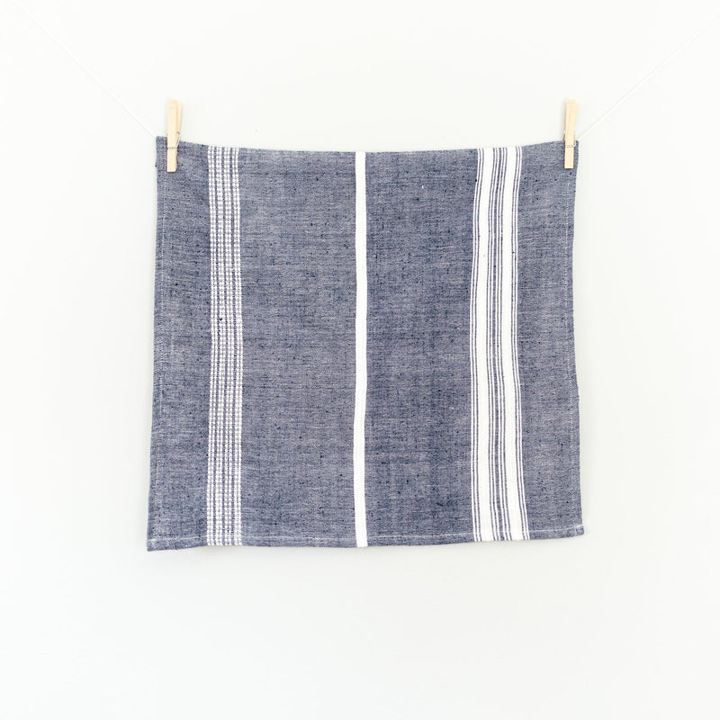 Creative Women Aden Cotton Napkin - Navy with Natural Creative Women