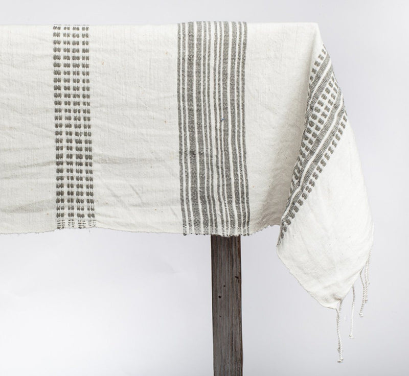 Creative Women Aden Cotton Tablecloth - Gray Creative Women