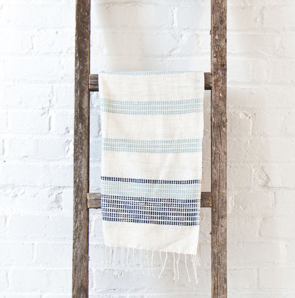 Creative Women Camden Hand Towel - Azure and Navy Creative Women