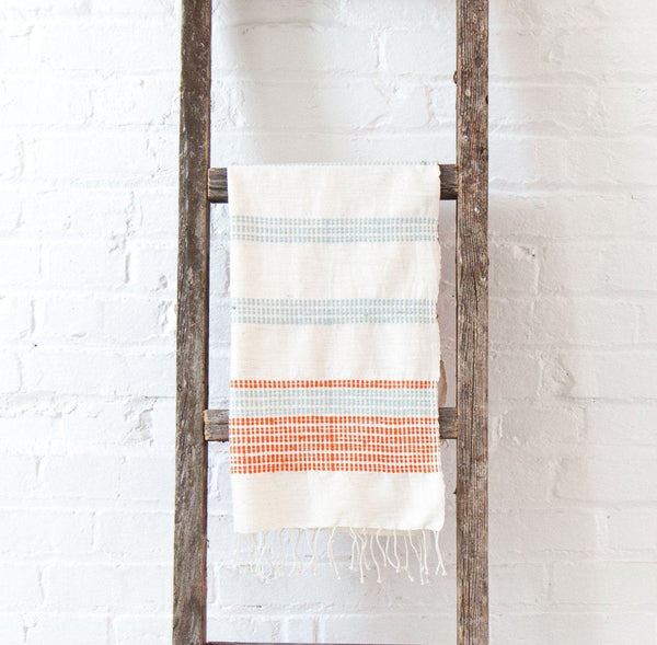 Creative Women Camden Hand Towel - Azure and Tangerine Creative Women