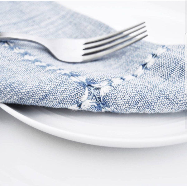 Creative Women Pulled Cotton Napkin - Blue Creative Women