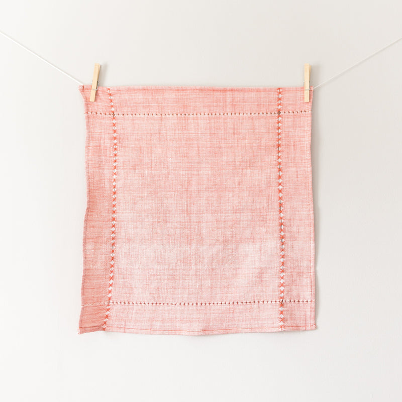 Creative Women Pulled Cotton Napkin - Red Creative Women