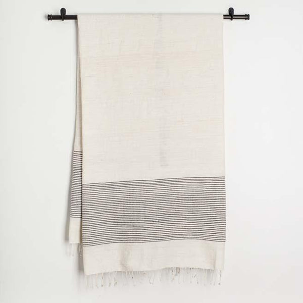 Creative Women Riviera Cotton Bath Towel - Gray Creative Women