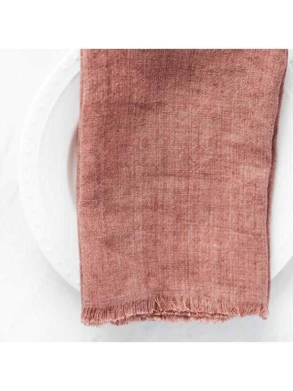 Creative Women Stone Washed Linen Dinner Napkin - Ash Rose Creative Women