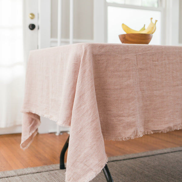 Creative Women Stone Washed Linen Tablecloth - Blush Creative Women