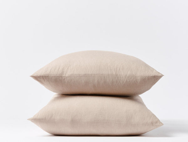 Crinkled Percale Pillowcases - Hazel Chambray Bedding Coyuchi