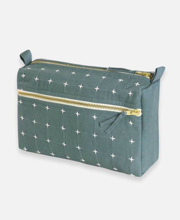Cross Stitch Toiletry Bag - Spruce Accessories Anchal Project