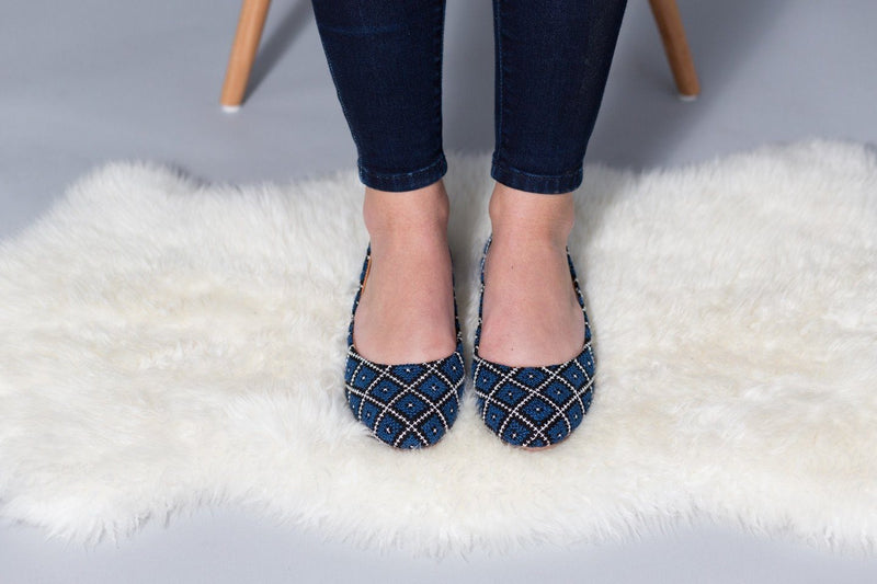 Darzah The Tatreez Flat in Blue Darzah
