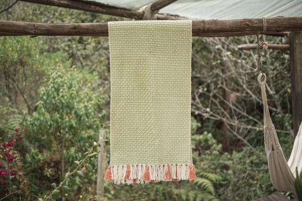 Diamond Feijoa Organic Cotton Table Runner Zuahaza