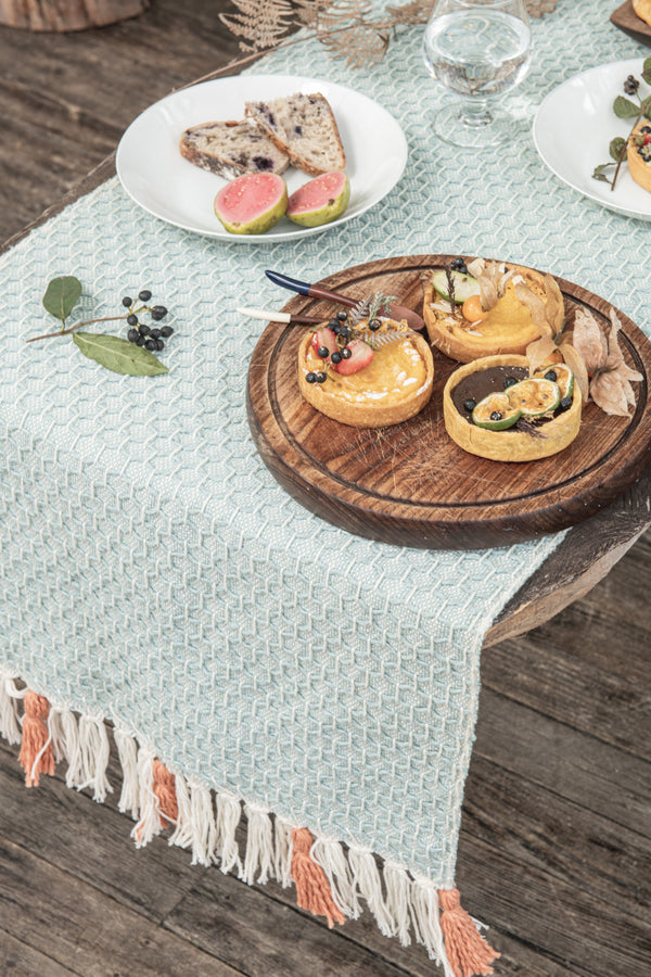Diamond Naidi Organic Cotton Table Runner Zuahaza
