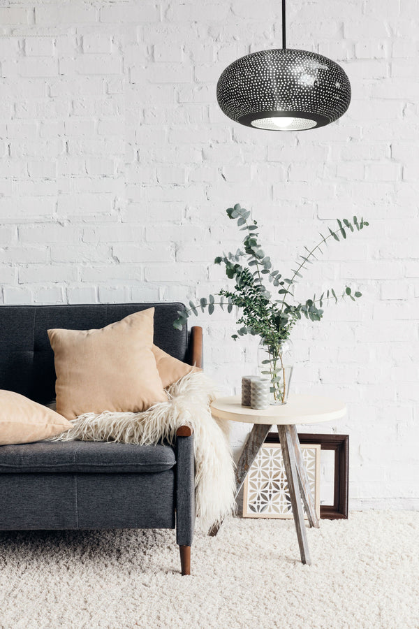 Dounia Home Lila Pendant Light- Gunmetal Pendant light Dounia Home